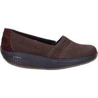 Schuhe Damen Slipper Mbt slip on mokassins braun nabuk wildleder AC906 braun