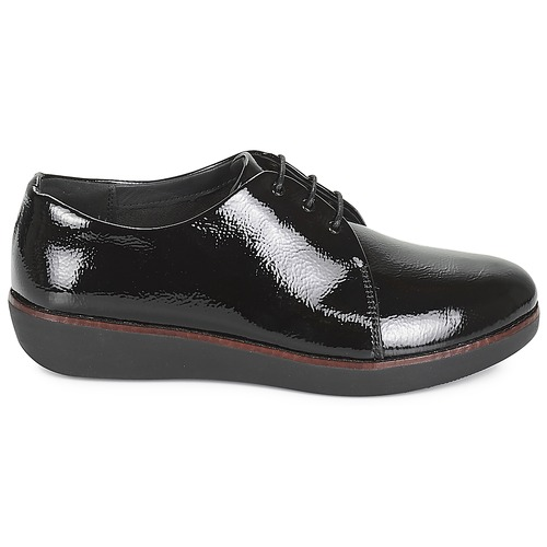 FitFlop CRINKLE Derby-Schuhe PATENT Schwarz  Schuhe Derby-Schuhe CRINKLE Damen 139 a67cf0