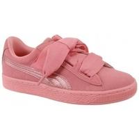 Schuhe Kinder Sneaker Low Puma Suede Heart SNK Jr 364918-05 Różowe