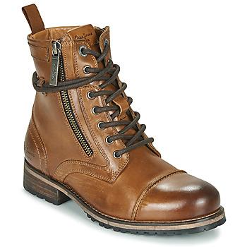 Schuhe Damen Boots Pepe jeans Melting Braun