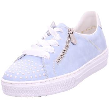 Schuhe Damen Sneaker Low Rieker - L59C8-10 sky/argento