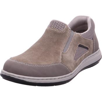 Schuhe Herren Slipper Rieker - 17354-45 polvere/dunst/dust/schwar