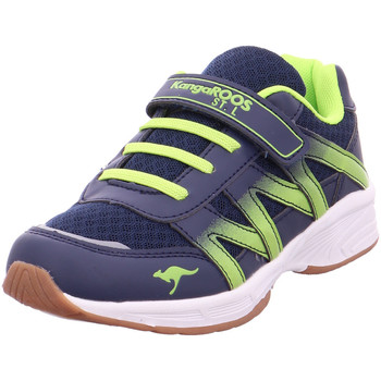 Schuhe Sneaker Low Kangaroos Training Kinder dk.navy/lime