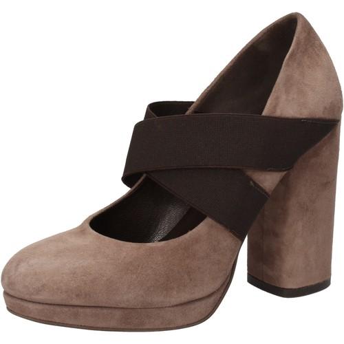 Schuhe Damen Pumps Silvia Rossini pumps beige wildleder braun textil AD487 beige