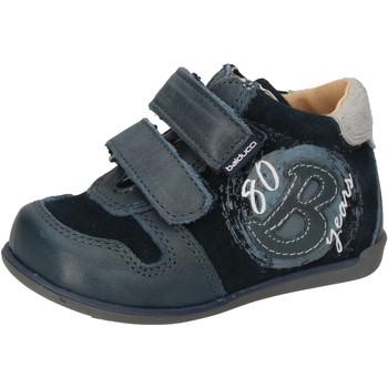Schuhe Jungen Sneaker High Balducci sneakers blau wildleder leder AD588 blau