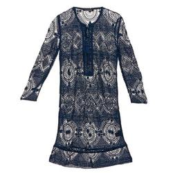 Kleidung Damen Kurze Kleider Antik Batik LEANE Marine