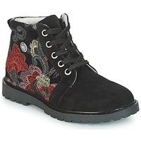 Schuhe Mädchen Boots Catimini CAHAUT Schwarz