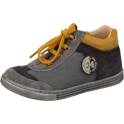 Schuhe Jungen Sneaker High Balducci sneakers grau textil wildleder AD595 grau