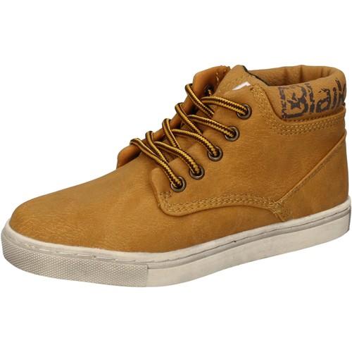 Schuhe Jungen Sneaker High Blaike sneakers gelb leder AD702 gelb