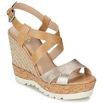 Schuhe Damen Sandalen / Sandaletten Bullboxer GLADOU Braun / Silbern
