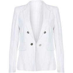 Kleidung Damen Jacken / Blazers Anastasia Sommer Blazerjacke aus Leinen White