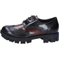Schuhe Damen Derby-Schuhe Lea Foscati schuhe damen  elegante schwarz glänzendem leder braun AD743 schwarz