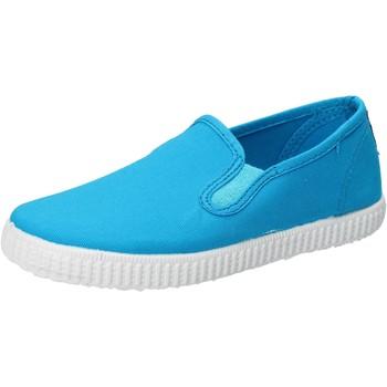 Schuhe Jungen Slip on Cienta slip on hellblau turchese textil duftende AD780 blau