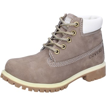 Schuhe Jungen Boots Enrico Coveri schuhe bambino  stiefeletten grau leder wildleder AD831 grau