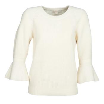 Kleidung Damen Pullover MICHAEL Michael Kors SHAKER ROUND SLV Weiss