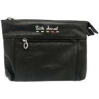 Taschen Damen Geldtasche / Handtasche Little Marcel Pochette ID16-LM-BLACK Schwarz