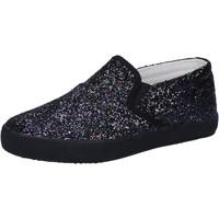 Schuhe Mädchen Slip on Date slip on schwarz glitter AD836 schwarz