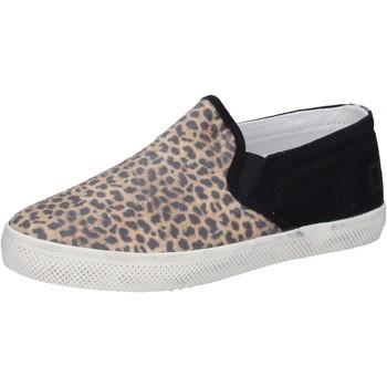 Schuhe Mädchen Slip on Date slip on schwarz textil braun AD837 schwarz