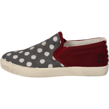 Schuhe Mädchen Slip on Date slip on burgund textil grau AD841 rot