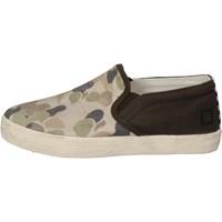 Schuhe Jungen Slip on Date schuhe bambino D.A.T.E. (DATE) slip on grün textil beige AD846 grün