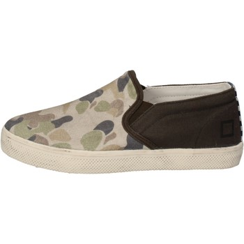 Schuhe Jungen Slip on Date slip on grün textil beige AD846 grün