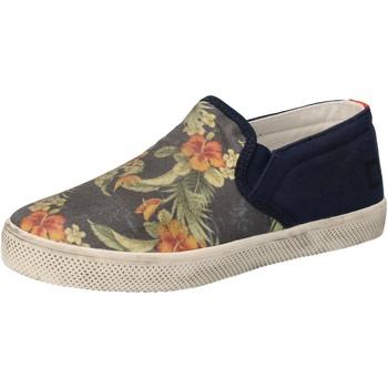 Schuhe Mädchen Slip on Date schuhe bambina D.A.T.E. (DATE) sneakers blau textil AD858 blau