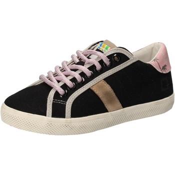 Schuhe Mädchen Sneaker Low Date schuhe bambina D.A.T.E. (DATE) sneakers schwarz textil AD859 schwarz
