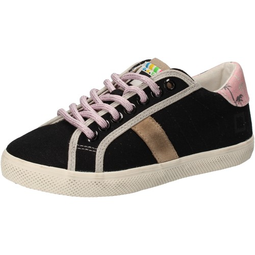 Schuhe Mädchen Sneaker Low Date sneakers schwarz textil AD859 schwarz