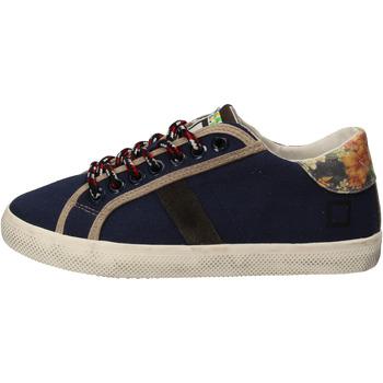 Schuhe Mädchen Sneaker Low Date schuhe bambina D.A.T.E. (DATE) sneakers blau textil AD862 blau