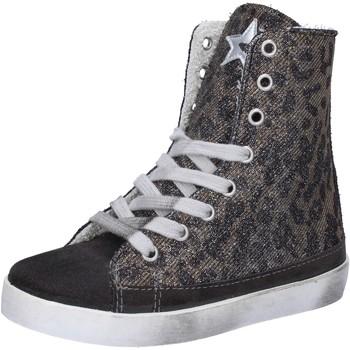 Schuhe Mädchen Sneaker High 2 Stars sneakers grau wildleder gold textil AD884 grau