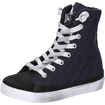 Schuhe Mädchen Sneaker 2 Stars sneakers schwarz textil wildleder AD887 schwarz