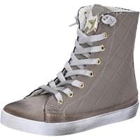 Schuhe Mädchen Sneaker High 2 Stars sneakers beige textil wildleder AD888 beige