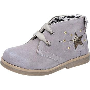 Schuhe Mädchen Low Boots Didiblu DIDI blau stiefeletten beige wildleder AD978 beige