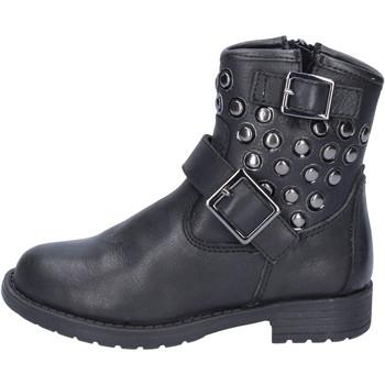 Schuhe Mädchen Low Boots Didiblu stiefeletten schwarz leder nieten AD981 schwarz