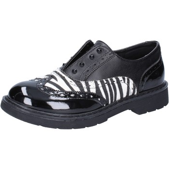 Schuhe Mädchen Sneaker Low Enrico Coveri schuhe bambina  elegante schwarz leder weiß lack AD964 schwarz