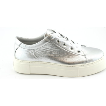 Schuhe Damen Sneaker Low Grunland GRÜNLAND SC3880 Silber Plateau-Schuhe Spitze Turnschuhe Frau Argento