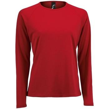 Kleidung Damen Langarmshirts Sols SPORT LSL WOMEN Rojo