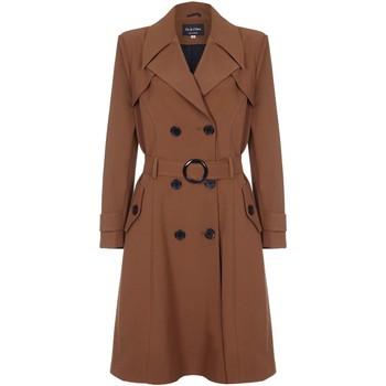 Kleidung Damen Trenchcoats De La Creme Spring Belted Trenchcoat Brown