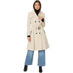 Kleidung Damen Mäntel De La Creme Spring Belted Trenchcoat BEIGE