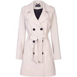 Kleidung Damen Mäntel De La Creme Spring Fit & Flair-Regenmantel BEIGE