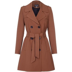 Kleidung Damen Mäntel De La Creme Spring Fit & Flair-Regenmantel Brown