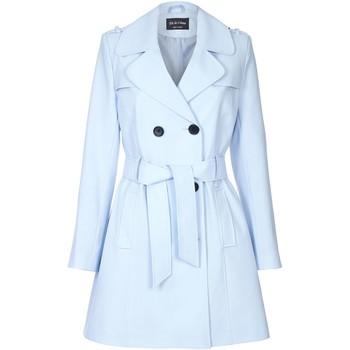 Kleidung Damen Mäntel De La Creme Spring Fit & Flair-Regenmantel Blue