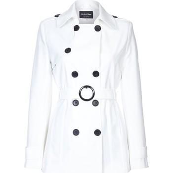 Kleidung Damen Mäntel De La Creme Spring Fit & Flair-Regenmantel White