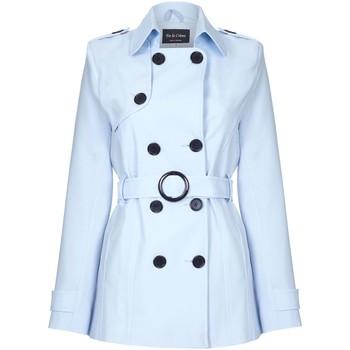 Kleidung Damen Mäntel De La Creme - Damen Fruhling Tie Belted Trenchcoat Blue