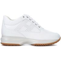 Schuhe Damen Sneaker High Hogan Sneaker Interactive in Leder Weiss Weiss