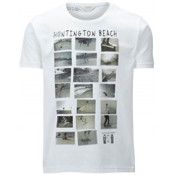 Kleidung Herren T-Shirts Selected T-Shirt  Huntington Beach weiss