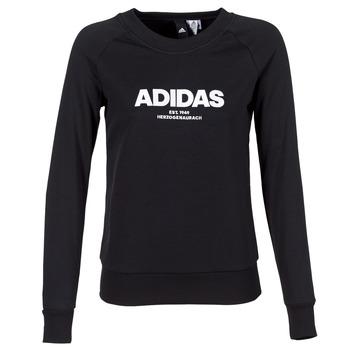Kleidung Damen Sweatshirts adidas Performance ESS ALLCAP SWT Schwarz