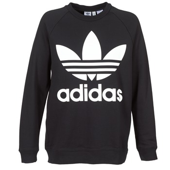 Kleidung Damen Sweatshirts adidas Originals OVERSIZED SWEAT Schwarz