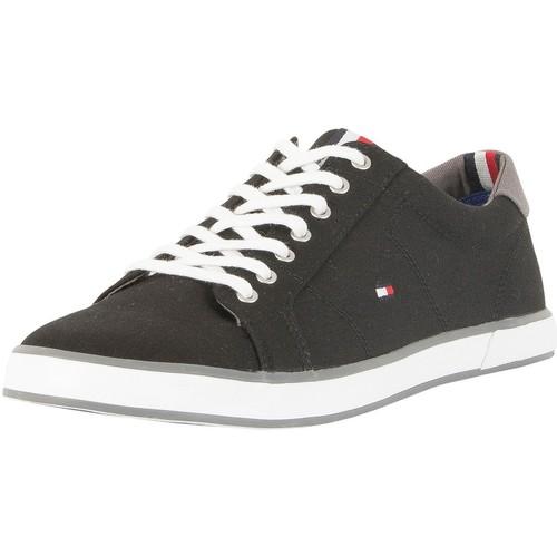 Schuhe Herren Sneaker Low Tommy Hilfiger Flag Canvas Trainer schwarz