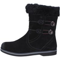 Schuhe Damen Schneestiefel Mbt stiefeletten schwarz wildleder pelliccia AB232 masai schwarz